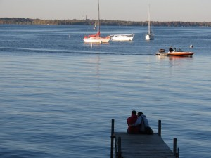 Students and local boaters use Lake Mendota for different recreational purposes. Photo: Andy Fine