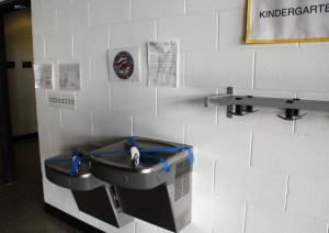 Water fountains are taped over at Yorkville Elementary School in Racine County due to high levels of the metal molybdenum. The environmental group Clean Wisconsin alleges that coal ash buried in a school construction site is partly to blame.